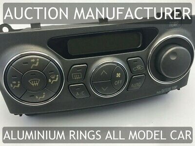 Toyota Celica T23 99-06 Polished Aluminium Chrome Heater Control Rings Surrounds