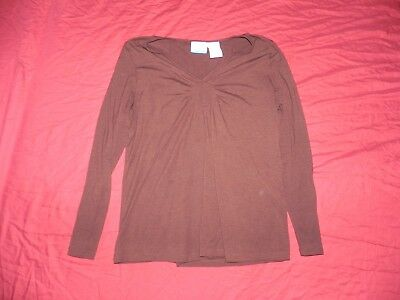Old Navy Maternity Brown Long Sleeve Knit Shirt Top Large L