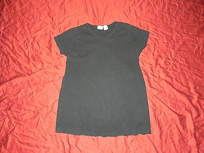 Black V-Neck Loose Fit Maternity Shirt Top Small S