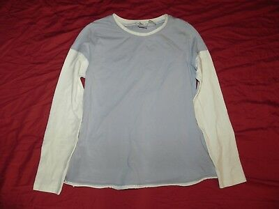 DUO Baby Blue Knit Top Shirt Small S