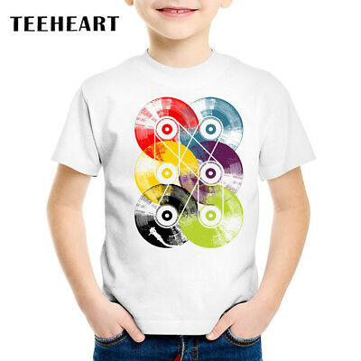 Vintage Multicolor Vinyl CD Kid Children Baby Boy/Girl Cute Funny T Shirt