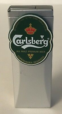 """Vintage Rare Carlsberg Beer Lighter 3"""" Tall Excellent condition"""