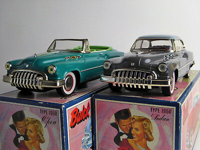 2 Fifties 50`s Buick Coupe und Buick Cabrio aus Blech Made in Japan M 1:20