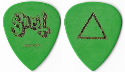 Ghost gold/green tour guitar pick