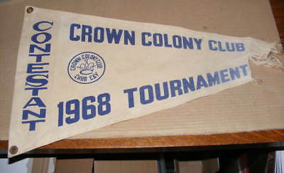 Saltwater Fishing 1968 Contestant Crown Colony Fishing Tournament Boat Flag
