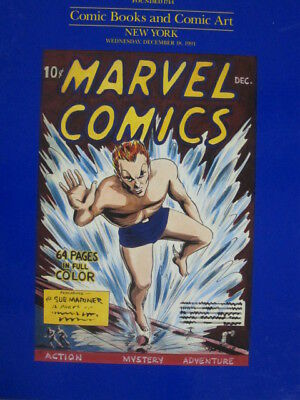 Sotheby 12/18/91 Comic Books & Comic Art - HB book - great illustrations