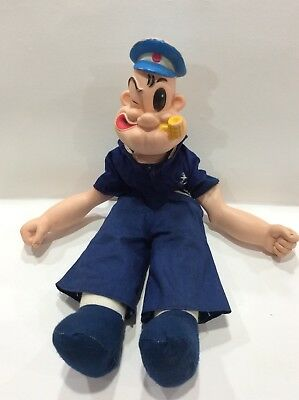 """Vintage 16"""" Plastic & Plush Popeye Doll - King Features Sy Inc"""