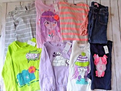 Girls Size 4/4T Clothing Lot 8 Items NEW
