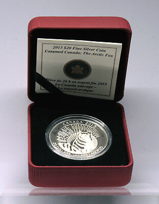 Kanada 20 $ Dollars 2013 -The Arctic Fox - Wildes Kanada,.9999 Silber proof