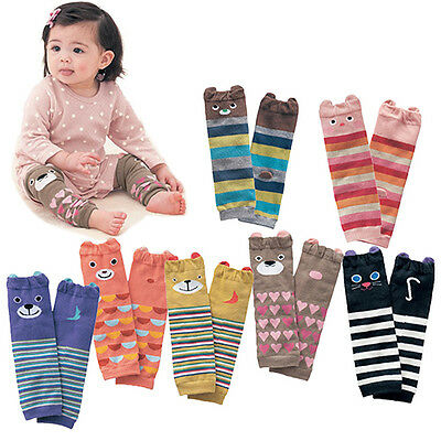 EP_ Cute Baby Toddler Boys Girls Stripe Socks Cotton Legging Arm Leg Warmer Dain