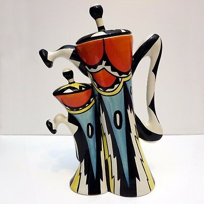 Lorna Bailey Signed Fantasia Coffee Pot