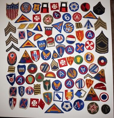 Large Lot Of WWII US Army Patches Lot #3