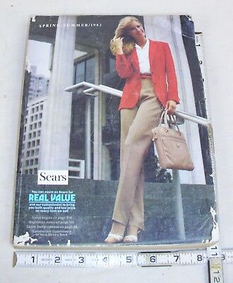 Sears 1982 Spring & Summer Catalog Men's & Women's Fashion, Auto, Home Bicycles