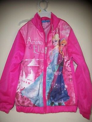 Girl's Frozen Jacket with Elsa and Anna Size 5-6 by Disney