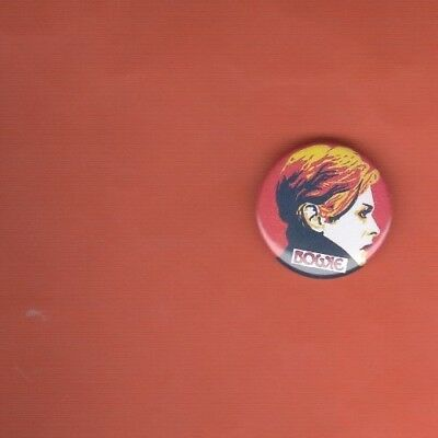 David Bowie  Rare Low Button Badge 25Mm Size Young Americans Black Star Heroes
