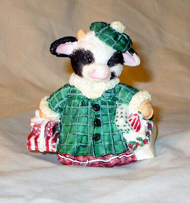 Cow Figurine Shop Till The Cows Come Home Enesco Mary's Moo Moos 1994 4""