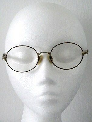 FENDI EYEGLASS FRAMES 30 AMBER GEP 135 51-18 Vintage 1980's Made in Italy