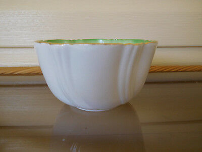 TF & S Ltd. Thomas Forester & Sons Green White Sugar Bowl England 1929