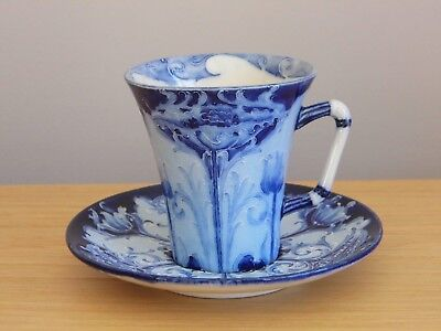 Fabulous Moorcroft  Florianware Poppy Design Cup And Saucer Circa 1900