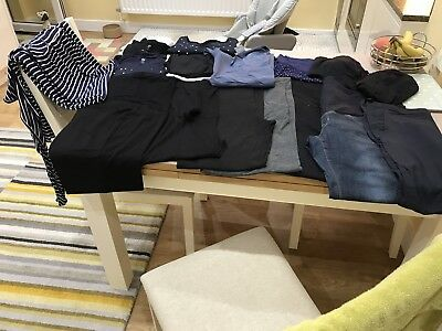 Bundle Of Maternity Clothes Size 14-16 (17 Items)