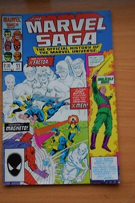 "THE MARVEL SAGA ""The Official History of the Marvel Univers - No 11 Date 10/1986"
