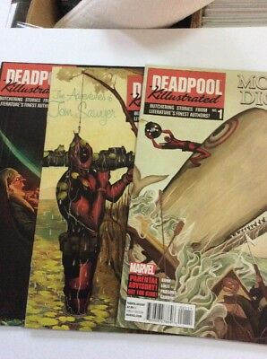 Deadpool Kilustrated #1-4 Complete Set with Free Shipping  BIG SALE COMICS