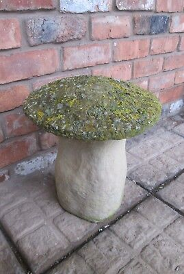 Old Vintage Reconstituted Stone Staddle Stone Mushroom Garden Ornament Cotswold