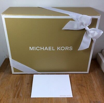 Michael Kors Gift Presentation Storage Box, Gift Bow Ribbon + Envelope - Xmas