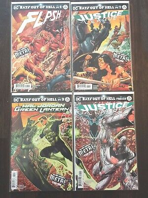 Dark Nights Metal Bats Out of Hell #1-4 Complete Flash 33 Justice League 32,33