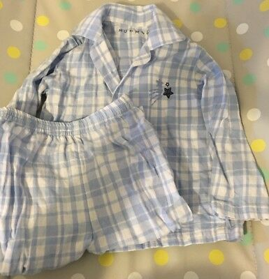 Mint Condition Baby Boys Blue And White Striped Long Sleeved Pyjamas 9-12 Months