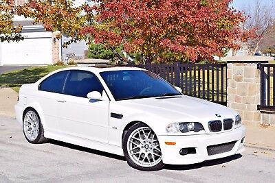 2005 BMW M3 Base Coupe 2-Door 2005 BMW M3 6MT ALPINE WHITE/BLK XENON NAVI ZCP COMPETITION PACK NO Reserve NR