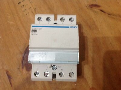 Hager ESC 463 4 Pole Contactor Normally Open
