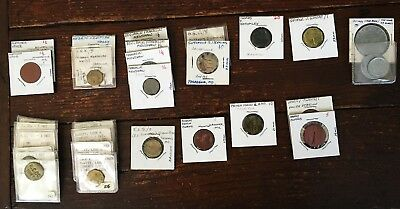 Collection of 31 Picker's chits, checks, tokens as shown in the photos