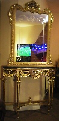 Stunning mirror and console table combination