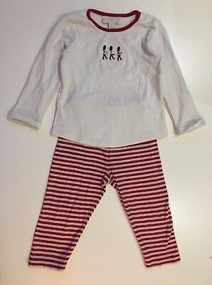 The Little White Company Baby Boys Soldier Pyjamas 2 Piece Set - 12-18 Months