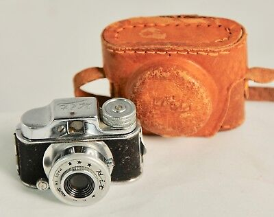 Vintage HIT Style Miniature Spy Camera - with LEATHER CASE
