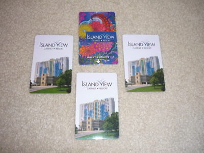 Four, Island  View,casino,  Resort,  Room  Key  Cards.  Gulfport, Mississippi