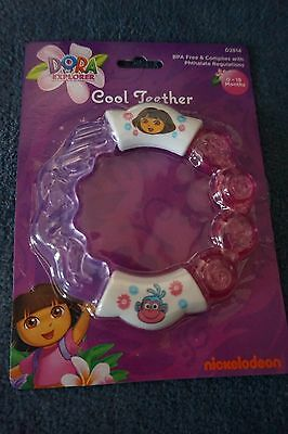 New Dora The Explorer Cool Teether/rattle Toy  Baby  0-18 Months