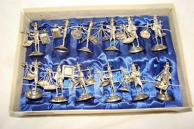 Vintage Chinese Export Silver Figural Place Card / Menu Holders