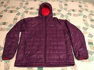 Unique Purple Patagonia Nano Puff Hoody Full Zip Jacket Men's Large (Women's XL)