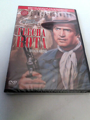 "Dvd ""flecha Rota"" Dvd + Cd Bso Ost Precintada Sealed Delmer Daves James Stewart"