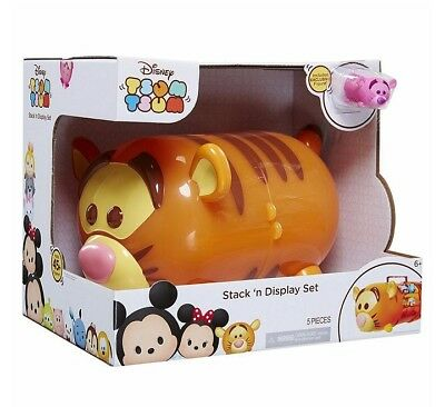 Disney Tsum Tigger Stack N Display Case Storage Carry Set Exclusive Figure