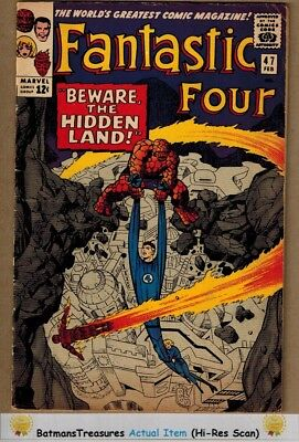 Fantastic Four #47 (6.5) Fine+ 3rd Inhumans Appearance 1966 KeyIssue By Stan Lee