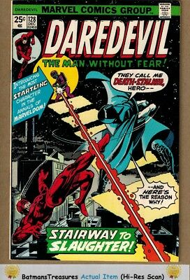 Daredevil #128 (9.0) VF/NM Death-Stalker Appearance 1975 Bronze Age Key Issue