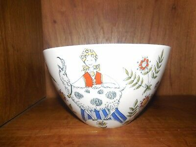 Flint Figgjo Norway ~ Norge ~ Farmer & Family ~ Bowl ~ Vintage