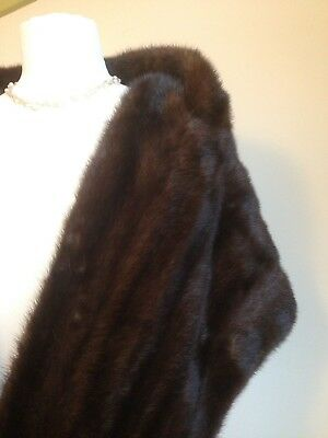 Vintage Glamorous Real Fur Stole Wrap Shrug. Mink? 40s 50s. In Rich Browns. VGC