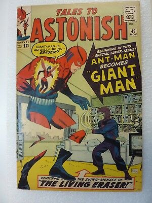 Tales To Astonish 49 Ant-Man Becomes Giant-Man Nov. 63  Avengers