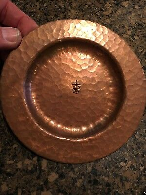 Roycroft copper plate hand hammered 5.75 inches very nice!