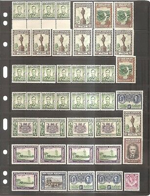 British Commonwealth - Older Mint Stamps -- Southern Rhodesia on Two Sided Card.