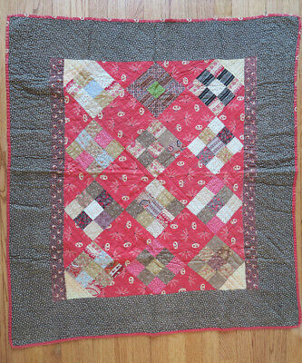 1880s ANTIQUE CRIB QUILT 38x42 BERKS COUNTY, PA  * Holiday Crib Quilt